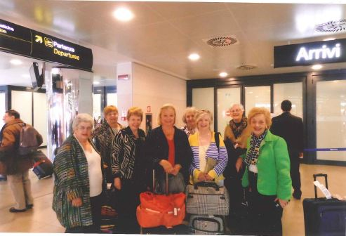 The travelers arrived in Florence, Italy, where they began their adventure.