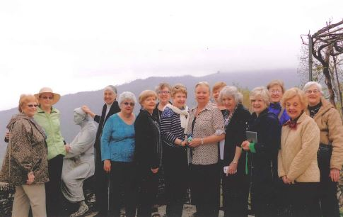 The travelers in Montecasale, where they toured St. Francis's favorite mountain retreat.